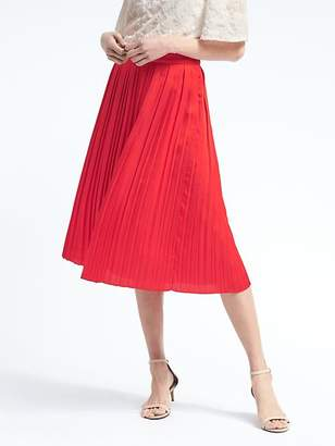 Pleated Midi Skirt $118 thestylecure.com