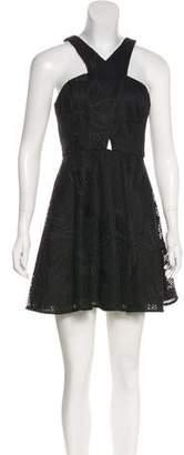 Jay Godfrey Lace Sleeveless Mini Dress