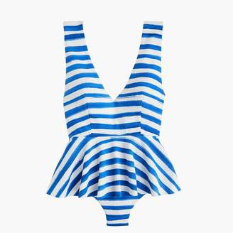 J.Crew MarysiaTM Gramercy skirted maillot one-piece swimsuit in watercolor stripe