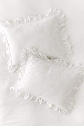 Urban Outfitters Washed Cotton Overscale Ruffle Sham Set