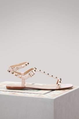 Valentino Rockstud Flat Sandals
