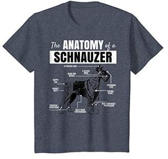 Dog Owners Shirt Anatomy of a Schnauzer Funny T-Shirt