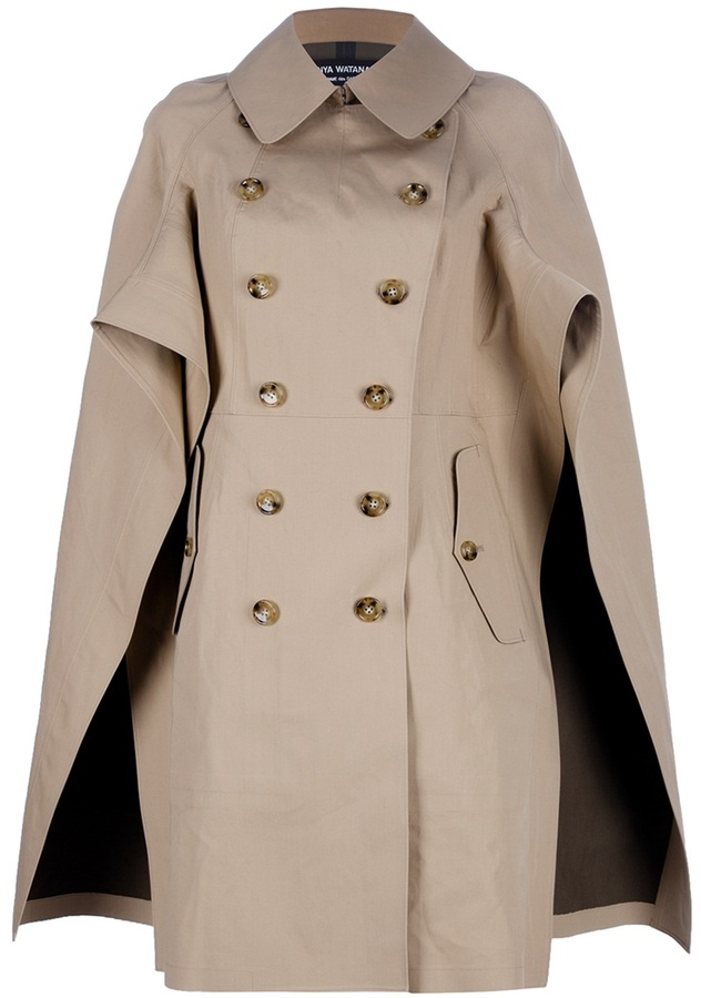 Junya Watanabe Comme Des Garçons cape-style trench coat