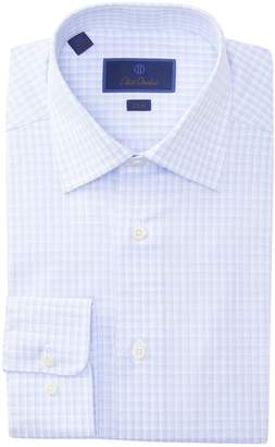 David Donahue Slim Fit Plaid Dress Shirt