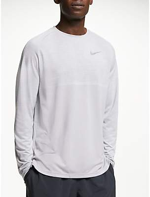 cc2e21d96 at John Lewis and Partners · Nike Dry Medalist Long Sleeve Running Top,  Atmosphere Grey/White