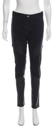 Givenchy Leather-Accented Mid-Rise Skinny Pants w/ Tags