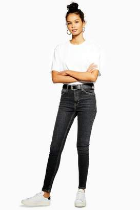 Topshop Womens Extreme Washed Black Jamie Jeans