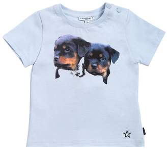 Givenchy Dogs Printed Cotton Jersey T-Shirt