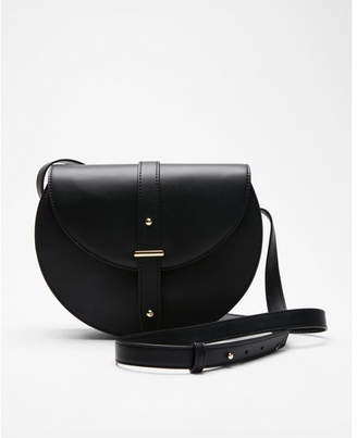 Express fold-over saddle crossbody bag