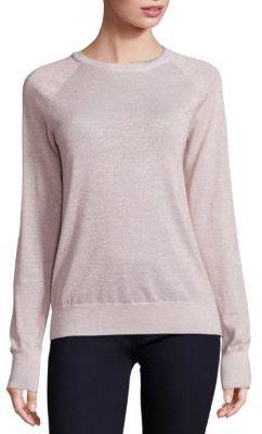 Equipment Sloane Lurex Crewneck Sweater $258 thestylecure.com