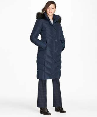 Brooks Brothers Fur-Trimmed Down Puffer Coat