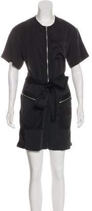 3.1 Phillip Lim Silk-Trimmed Short Sleeve Romper