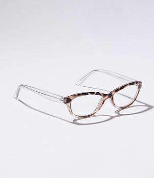 LOFT Spotted Rectangle Reading Glasses