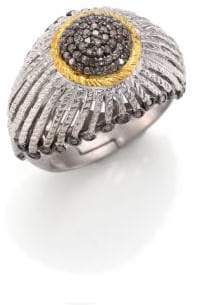 Coomi Silver Diamond, 20K Yellow Gold& Sterling Silver Ring
