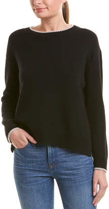 Vince Tipping Wool & Cashmere-Blend Top