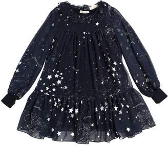 MonnaLisa Stars Printed Georgette Dress