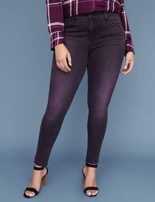 Lane Bryant Super Stretch Skinny Jean - Purple Overdyed Black
