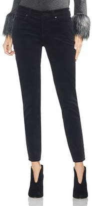 Vince Camuto Washed Corduroy Skinny Jeans in Rich Black