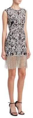 Naeem Khan Embellished Crewneck Dress