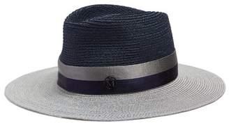 Maison Michel Charles Straw Hat - Womens - Navy