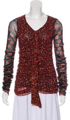 Jean Paul Gaultier Printed Long Sleeve Top