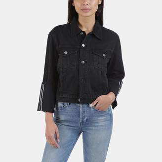 Frame Le Jacket Reverse Overlock Cuff in Black Knight