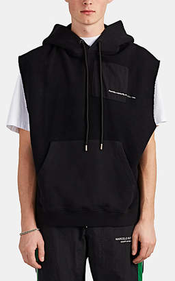 Marcelo Burlon County of Milan Men's Muhammad Ali Reverse Cotton Terry Muscle Hoodie - Black