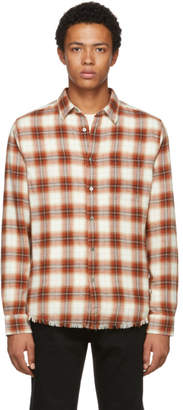 Frame Red and White Plaid Work Shirt
