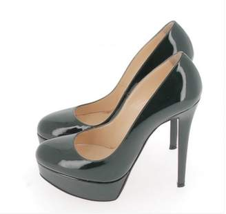 Christian Louboutin Bianca Green Patent leather Heels