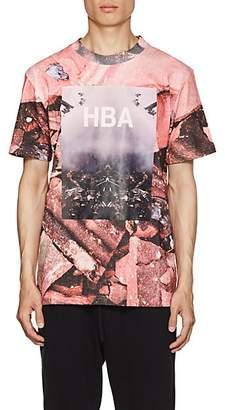 Hood by Air Men's Overcome-Print Cotton T-Shirt - Pink