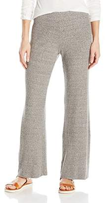 Enza Costa Women's Stretch Mock Twist Rib Wide Leg Pant