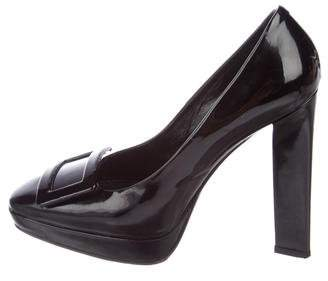 Roger Vivier Patent Leather Square-Toe Pumps