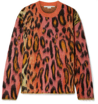 Stella McCartney Brushed Mohair-blend Jacquard Sweater - Pink