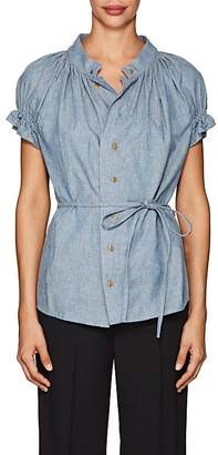 Yohji Yamamoto Regulation Women's Linen-Cotton Chambray Blouse