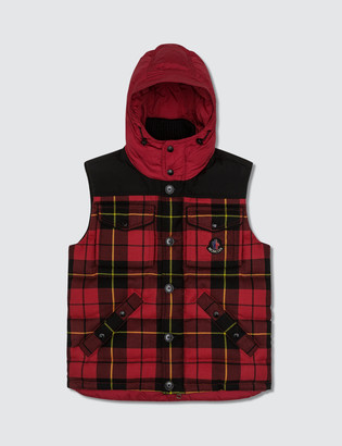 Moncler Wool Check Vest Jacket
