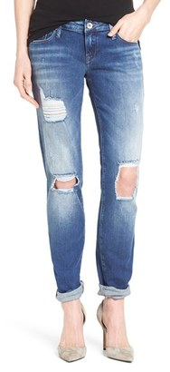 Women's Mavi Jeans 'Emma' Ripped Knee Boyfriend Slim Jeans $128 thestylecure.com