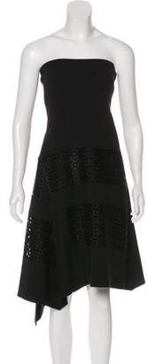 Derek Lam Asymmetrical Strapless Dress