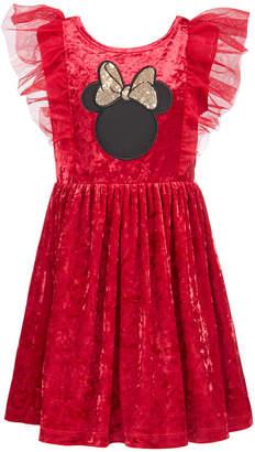 Disney Toddler Girls Minnie Mouse Crushed-Velvet Dress