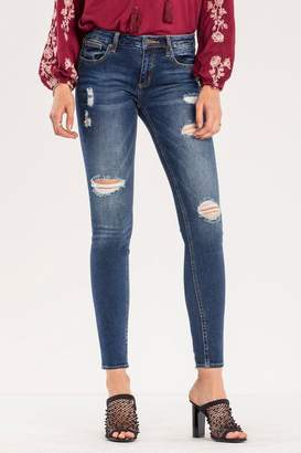 Miss Me Destructed Mid-rise Skinny Jeans