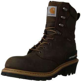 "Carhartt Men's 8"" Waterproof Breathable Soft Toe Logger Boot CML8169"