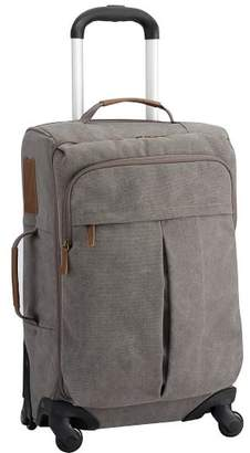 Pottery Barn Teen Northfield Solid Charcoal Carry On Spinner, Charcoal