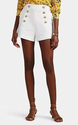 Derek Lam 10 Crosby Women's Button-Detailed Cotton High-Rise Sailor Shorts - White
