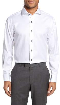 Lorenzo Uomo Trim Fit Solid Dress Shirt