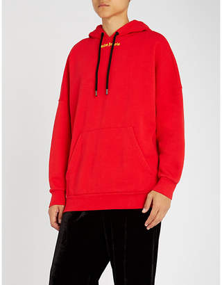 Palm Angels Logo-print cotton-jersey hoody