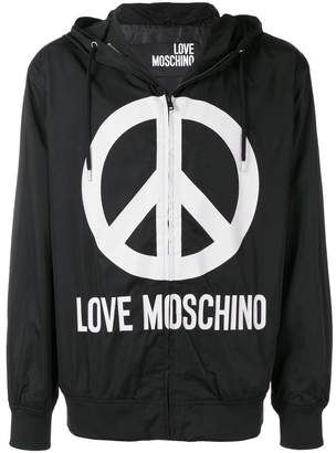 Love Moschino peace logo jacket
