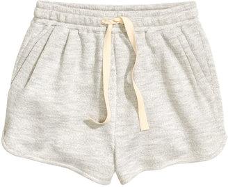 H&M - Short Sweatshorts - Light gray - Ladies