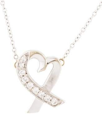 Tiffany & Co. Diamond Small Loving Heart Pendant