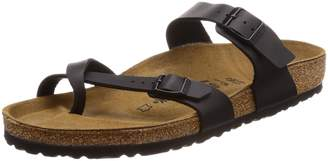 Birkenstock Women's Mayari Adjustable Toe Loop Cork Footbed Sandal Black 38 M EU