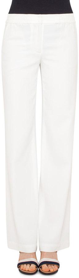 Akris PuntoAkris Punto Marla Wide-Leg Pants, Cream
