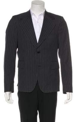Miu Miu Striped Wool-Blend Blazer